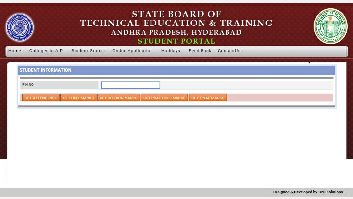 Ts sbtet student portal  TS SBTET Internal Results 2019