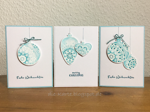 """""""Delicate Decorations"""" create a Smile, """"13 mal Frohe Weihnachten"""" Klartext Stempel"""