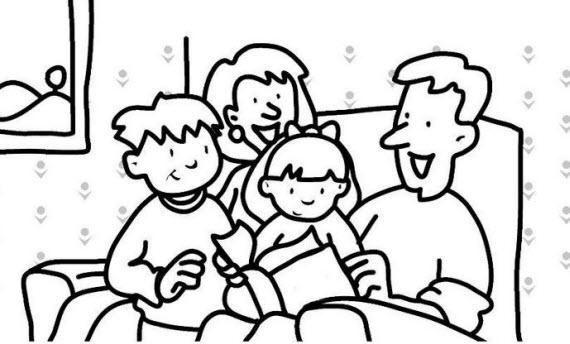 Dibujos Para Colorear Dibujos De La Familia Para Colorear