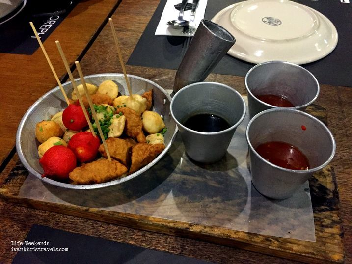 Street food platter at Locavore