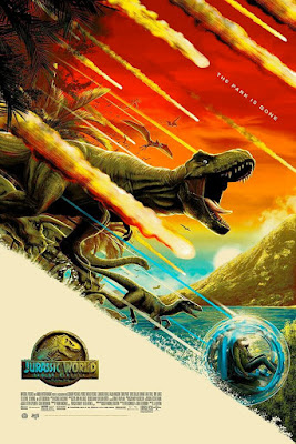 San Diego Comic-Con 2018 Exclusive Jurassic World: Fallen Kingdom Movie Poster Screen Print by Mike Saputo x Mondo