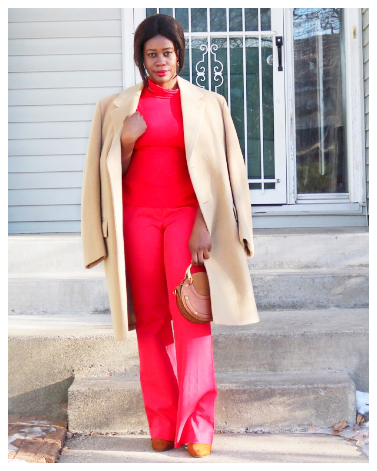 Beauty's Fashion Zone: Faux Jumpsuit + Oversized Camel