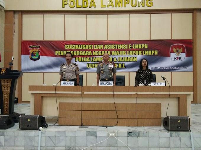 Wakapolda Lampung Buka Acara Sosialisasi E-LHKPN 2019
