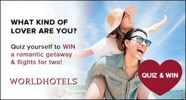 What Kind of Lover Are You? World Hotels offers travel agents a quiz.