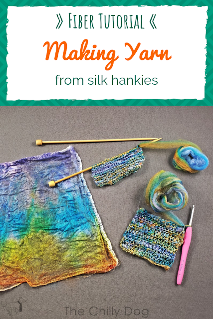 Easy Fiber Tutorial: Learn how to make yarn from silk hankies. No spinning required.