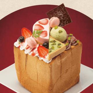 苺とマカロン&ピスタチオ ショコラハニトー