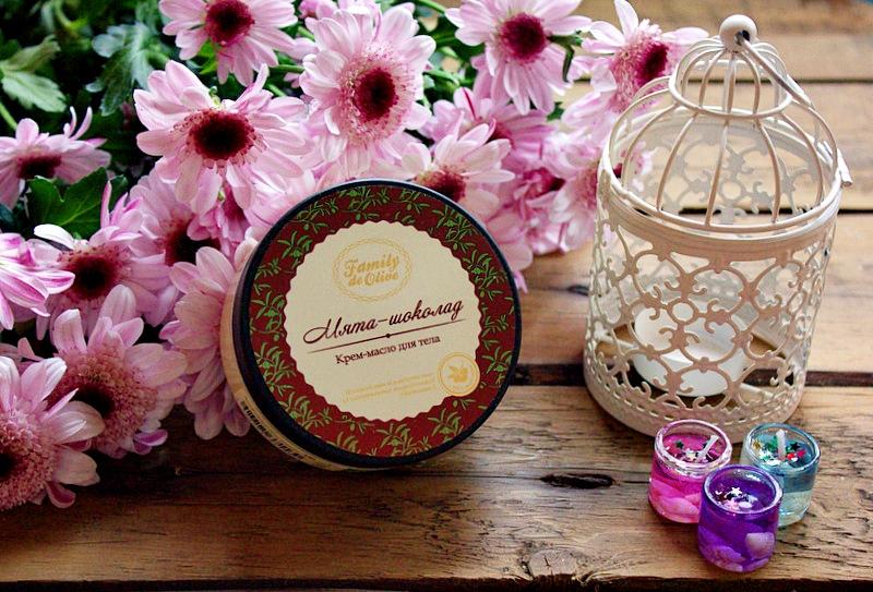 """""""Гурманское"""" крем-масло """"Мята-Шоколад"""" Family de Olive Body butter Mint-Chocolate / обзор, отзывы"""