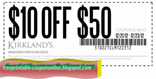 Free Printable Kirklands Coupons. Printable Coupons 2017  Kirklands Coupons