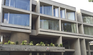 Side View of Slovak Embassy, London a Classic Brutalist Design from 1970