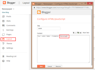 Template Documentation For Template Newspaper Blogger