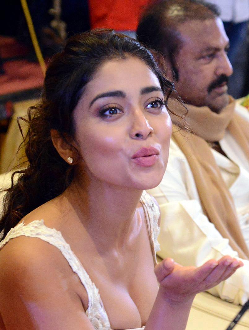 Shriya Sharan in Gorgeous Sleeveless Glittering short dress at Paisa Vasool audio success meet ~ CelebsNext Exclusive Celebrities Galleries