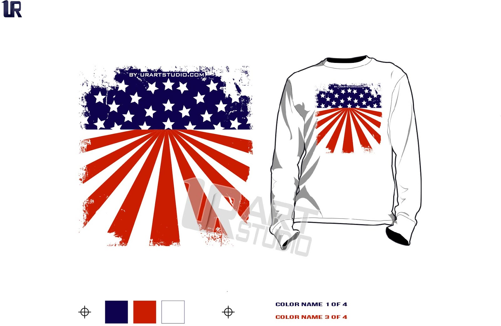 Design t shirt logo free - Free Download Color Separated American Flag Vector Design For Print On Tshirt And Other Apparel