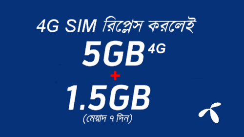 GP 4G SIM Replacement Offer 5GB 4G and 1.5 GB Free Internet