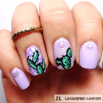 Casual Cacti Nail Art