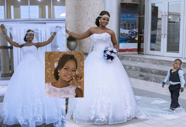 VIDEO:Olajumoke Orisaguna looked impeccably cool in wedding dress photoshoot