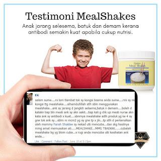 Testimoni Meal Shakes : Anak Jarang Selsema, Batuk Dan Demam