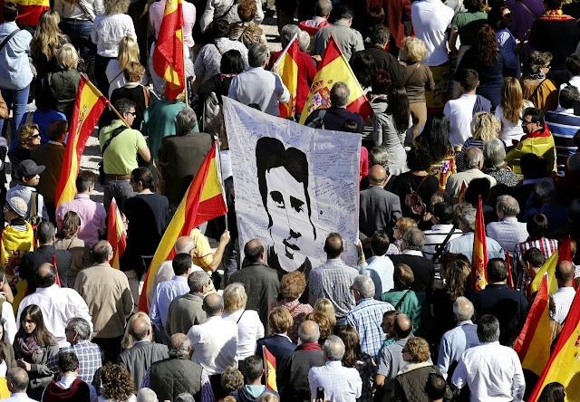 Manifestacion de victimas del  terrorismo