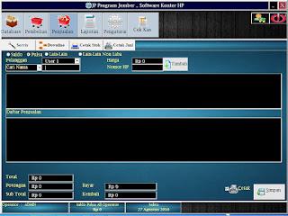 Software Kasir Counter HP Lengkap Dengan Transaksi Servis Handphone