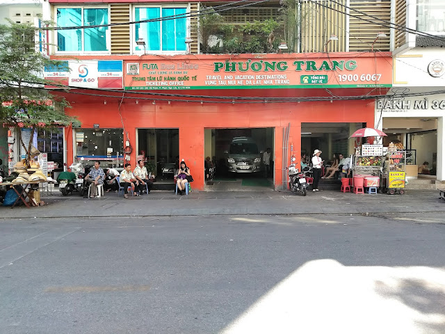 futa bus station backpackers district hcmc siagon vietnam
