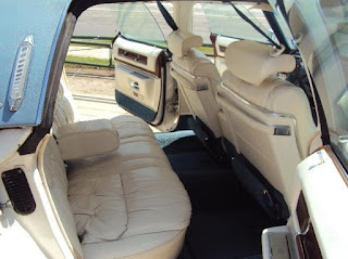 White 1976 Cadillac Fleetwood Brougham Interior Rear