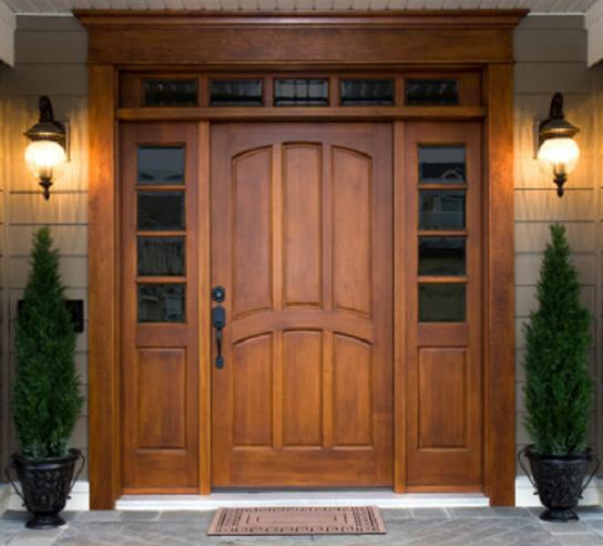 wooden front door images Front Entry Doors with Side Lights | 544 x 493