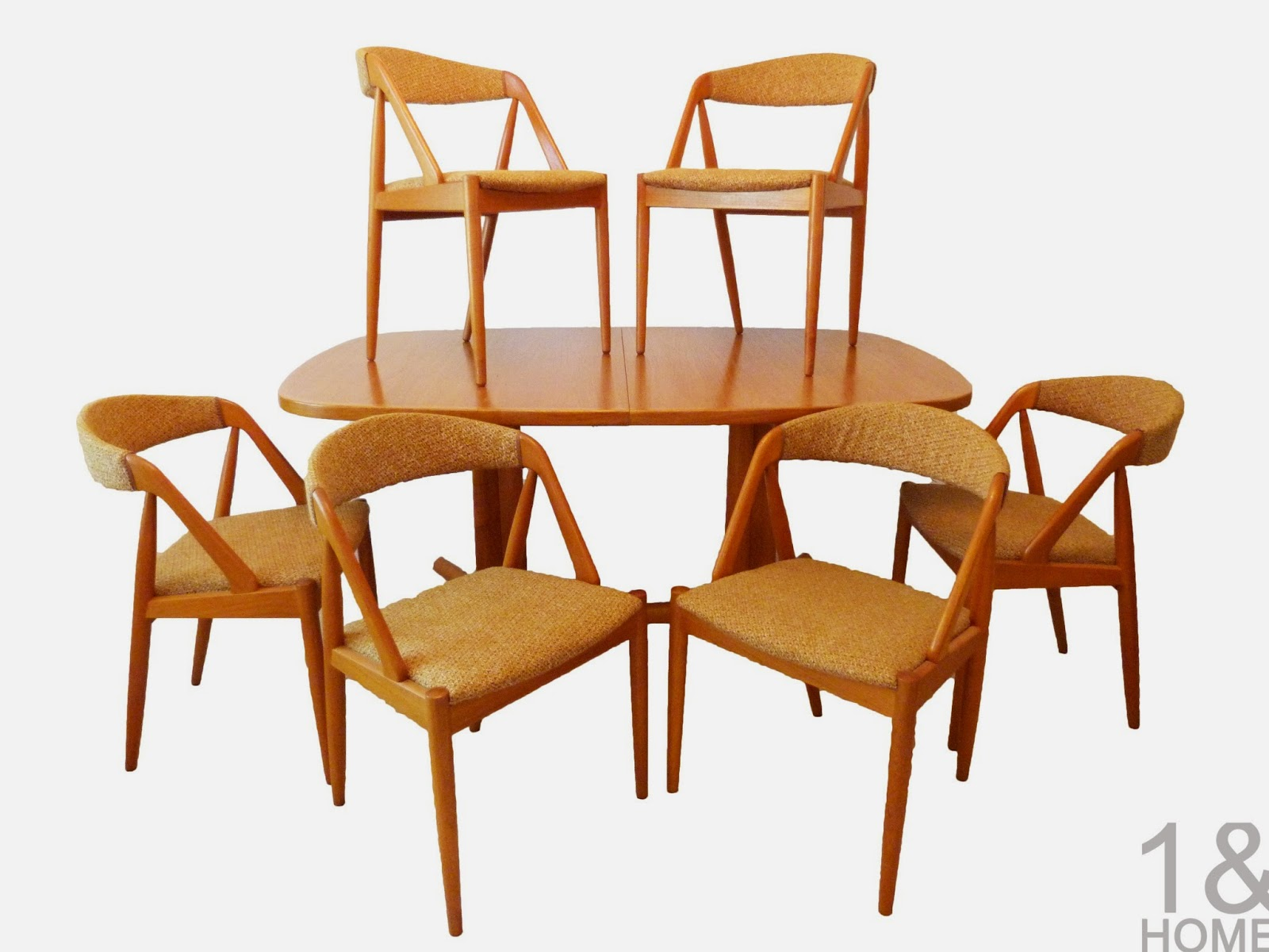 Kai Kristiansen for Schou Andersen Danish Modern Dining Chairs w/ Teak Table