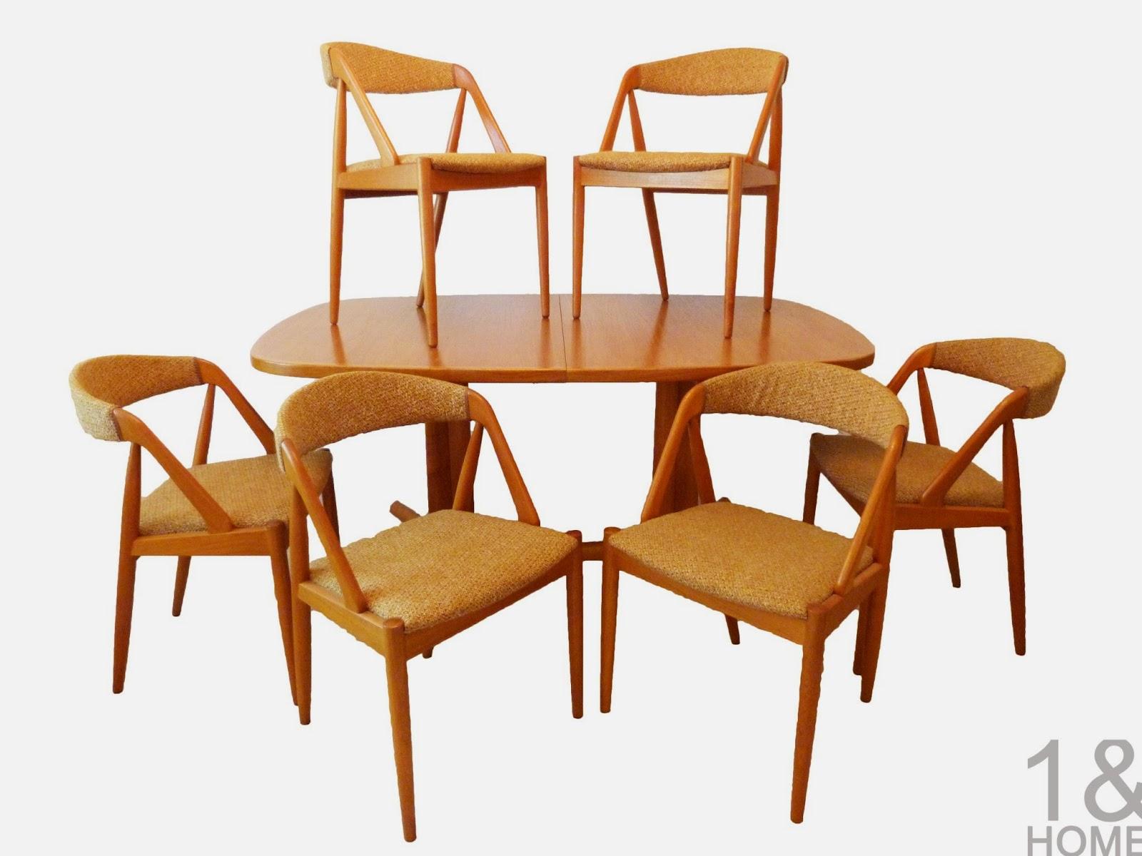 Kai Kristiansen for Schou Andersen Danish Modern Dining Chairs w/ Teak Table