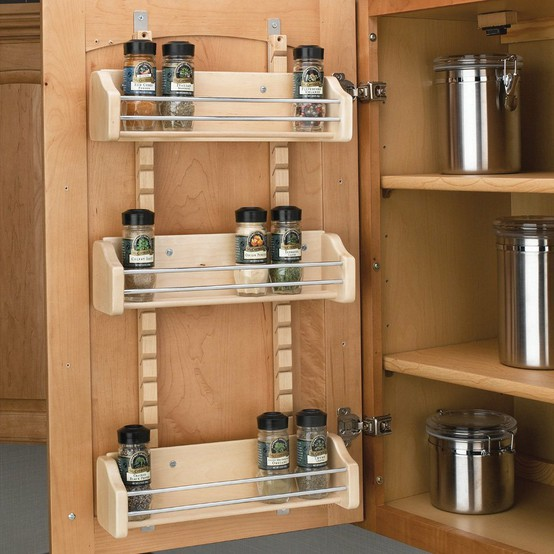 Spruce Up Your Kitchen With These Cabinet Door Styles: Lazy Susan Spice Rack Plans PDF Woodworking
