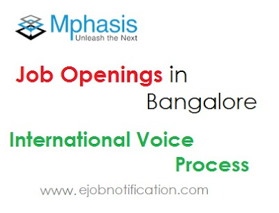 Mphasis Walk-In Drive Bangalore For Fresher International Voice Process jobs