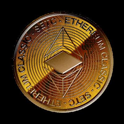 仮想通貨イーサリアム・クラシックのフリー素材(銅貨ver)
