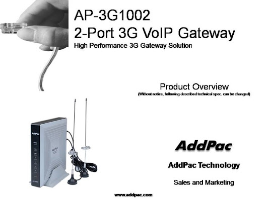 AP-3G1002 SOHO 2-Port 3G Gateway (Analog, VoIP)