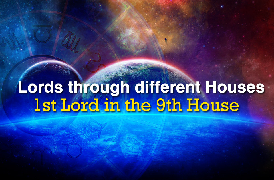 1st lord in the 9th house