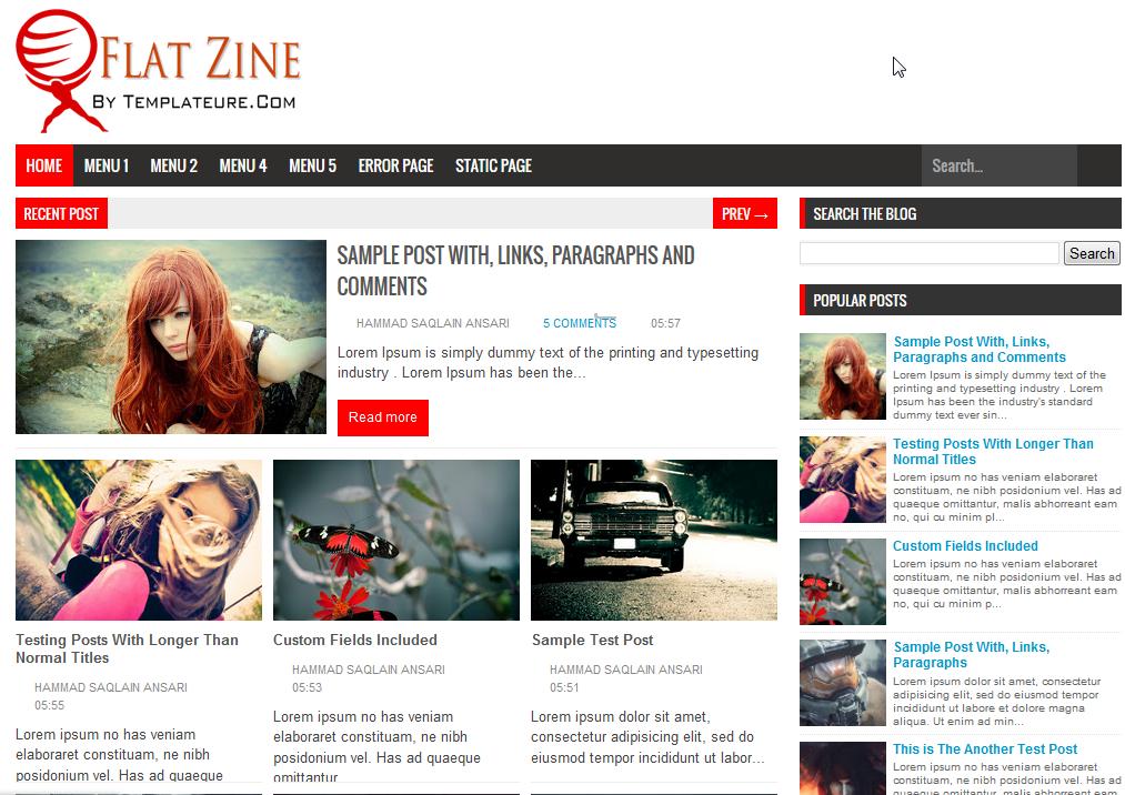 Blogger - Templates đẹp làm site tin tức | Free share all