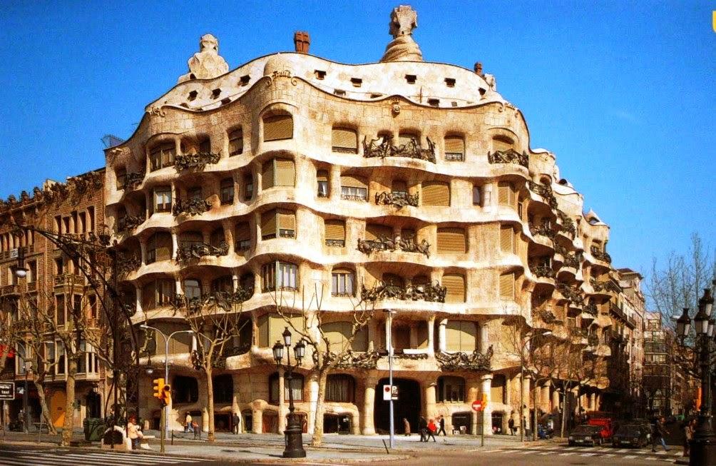 Prédio La Pedrera Casa Mila em Barcelona