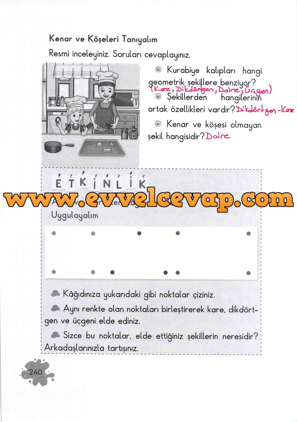 2. Sınıf Açılım Yayınları Matematik Ders Kitabı 240. Sayfa Cevapları