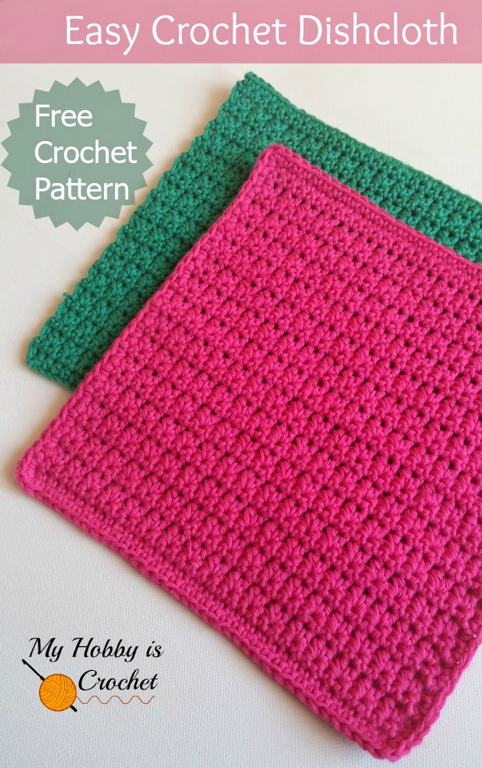 Easy Crochet Dishcloth - Free Crochet Pattern - Written Instructions and Crochet Chart