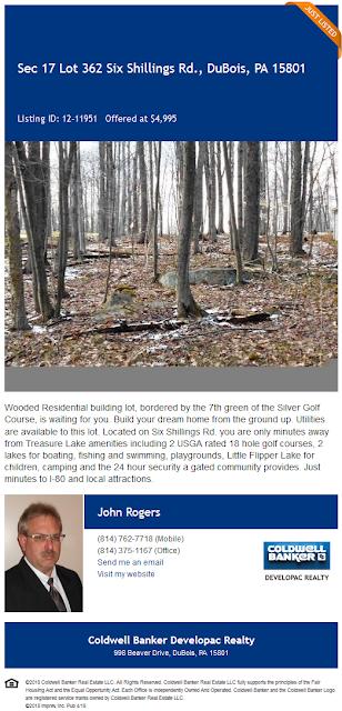 John Rogers lot 362 treasure lake Coldwell Banker Developac Realty for sale