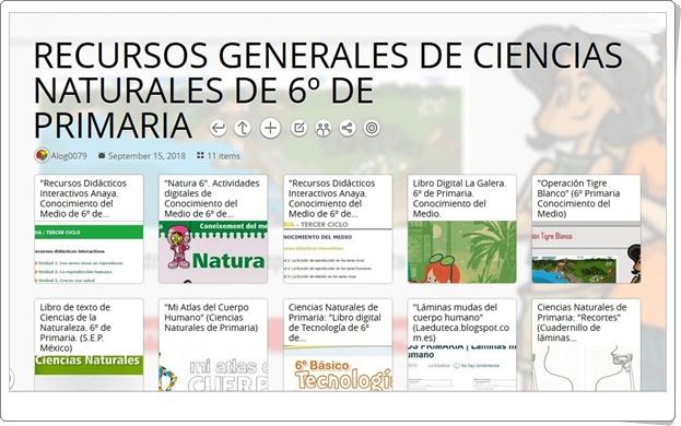 """""""11 RECURSOS GENERALES DE CIENCIAS NATURALES DE 6º DE PRIMARIA"""""""