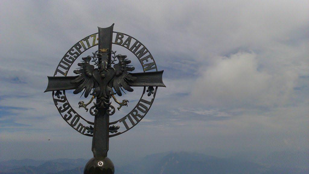 Zugspitze, o ponto mais alto da Alemanha