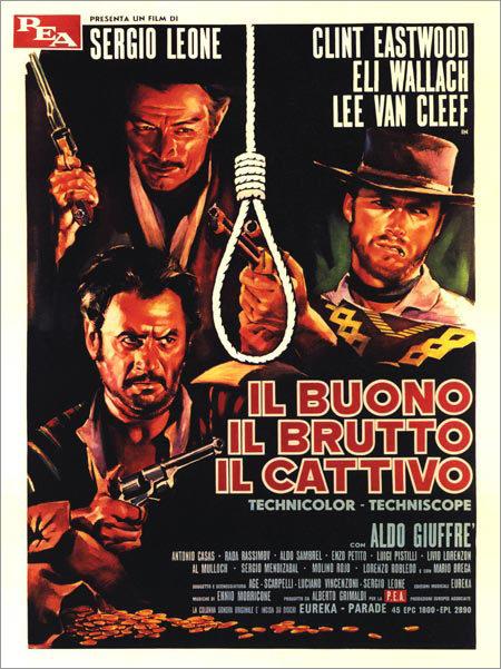 Poster original película El bueno, el feo y el malo