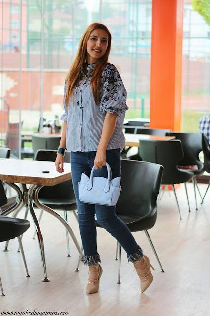 püsküllü paça jean modası