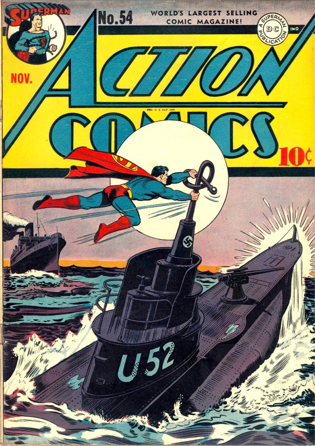 Read online Action Comics (1938) comic -  Issue #54 - 1