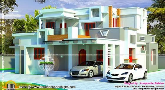 Modern house in Kerala