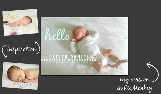 Beginner Beans How to Design Your Own Birth Announcement