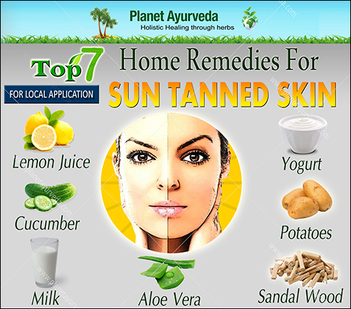 Top 7 Home Remedies for Tanned Skin