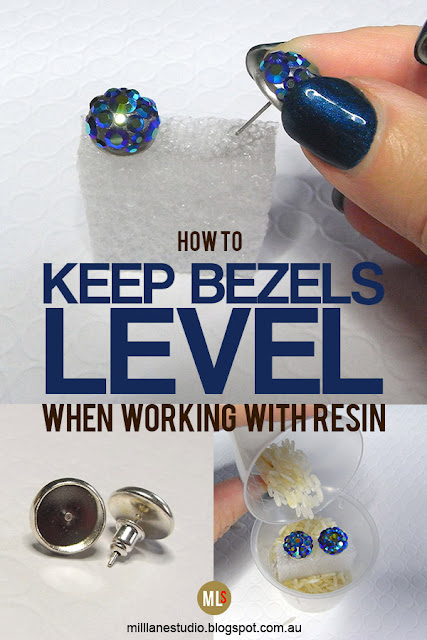 How to keep bezels level when working with resin inspiration sheet