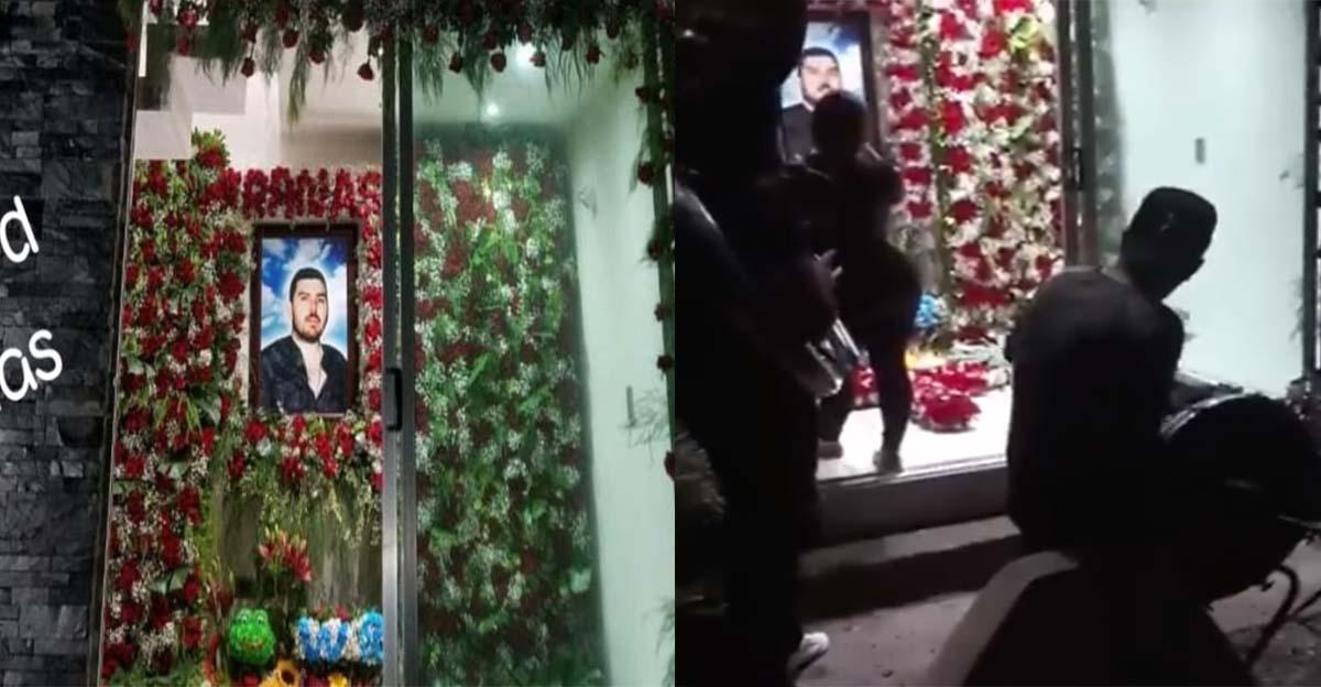 """VIDEO :Así festejaron a """"El Güero Ranas"""" lugarteniente de los hijos de """"El Chapo"""" con música y balazos en panteón."""