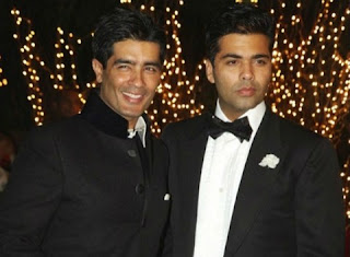 Manish Malhotra is with his best friend Karan Johar