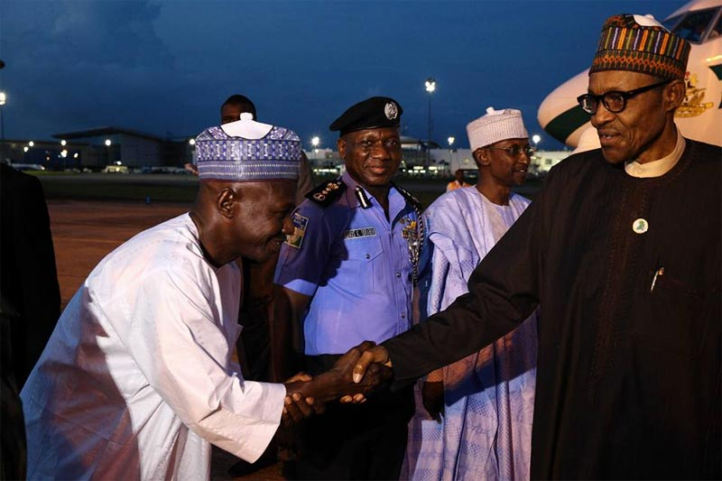 President Buhari returns to Nigeria from Kenya