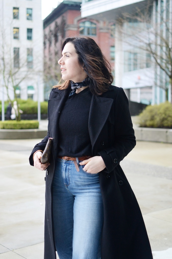 Aleesha Harris Vancouver fashion blogger French style bandana cool outfit J.Crew rayner jeans